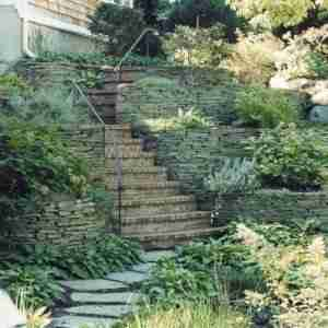 Multi Level Stone Staircase