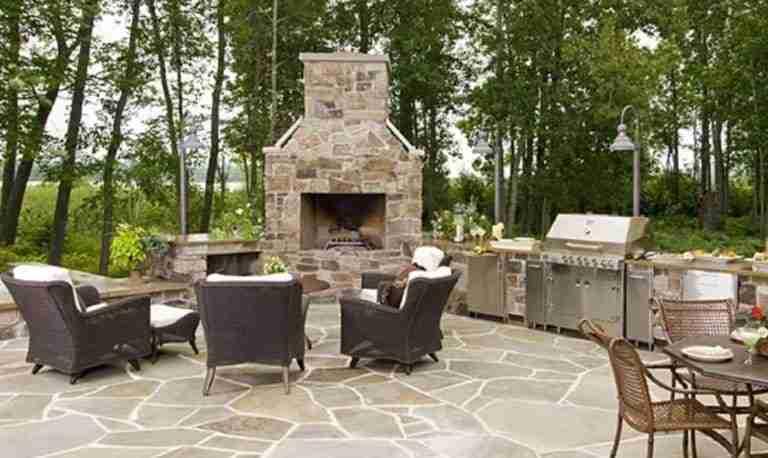 outdoor fireplace Long Island