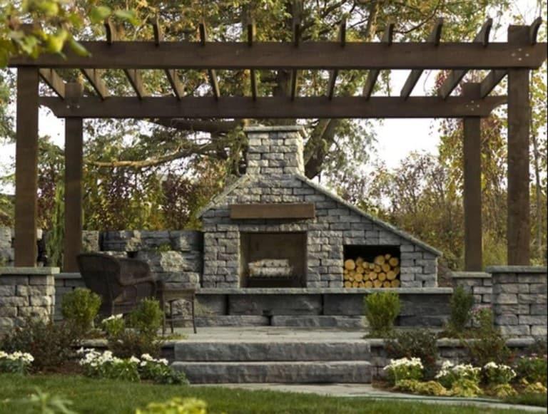hampton bays outdoor fireplace