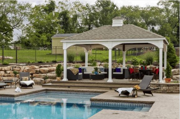 Poolside Stone Deck