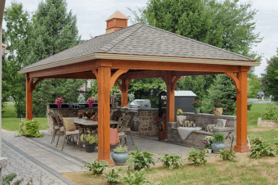 OUTDOOR LIVING STRUCTURES wood pavilion